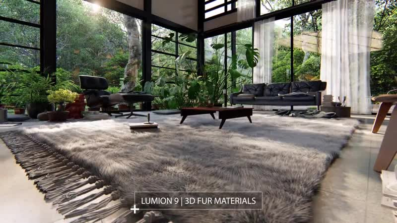 Lumion 9 Feature Example_ Furry Materials