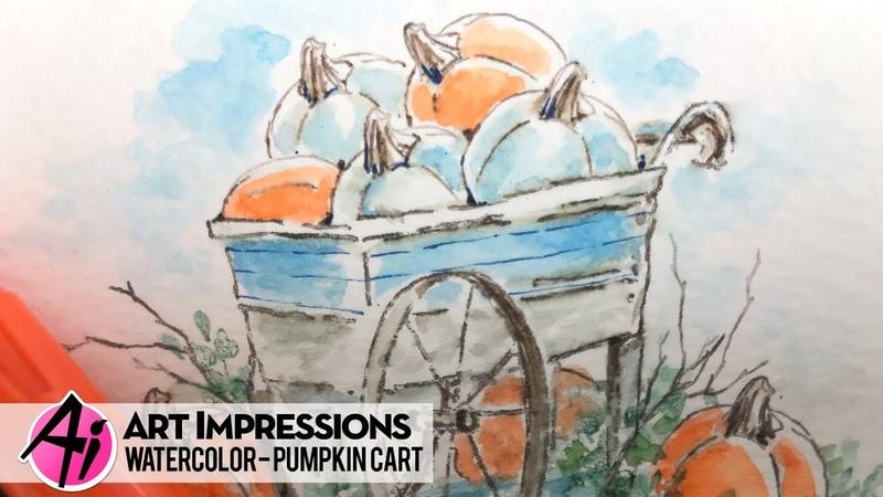 Ai Watercolor - Pumpkin Cart