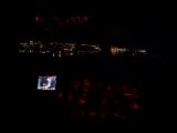Полет на вертолете над ночным Мурманском