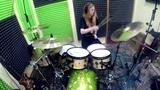 Лисонька играет на барабанах Йорш - Светлячки(панк-рок)