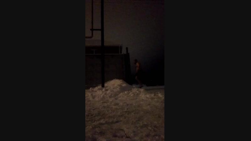 Обтирание снегом 09.01.2019г.