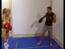 Mixed kickboxing and wrestling