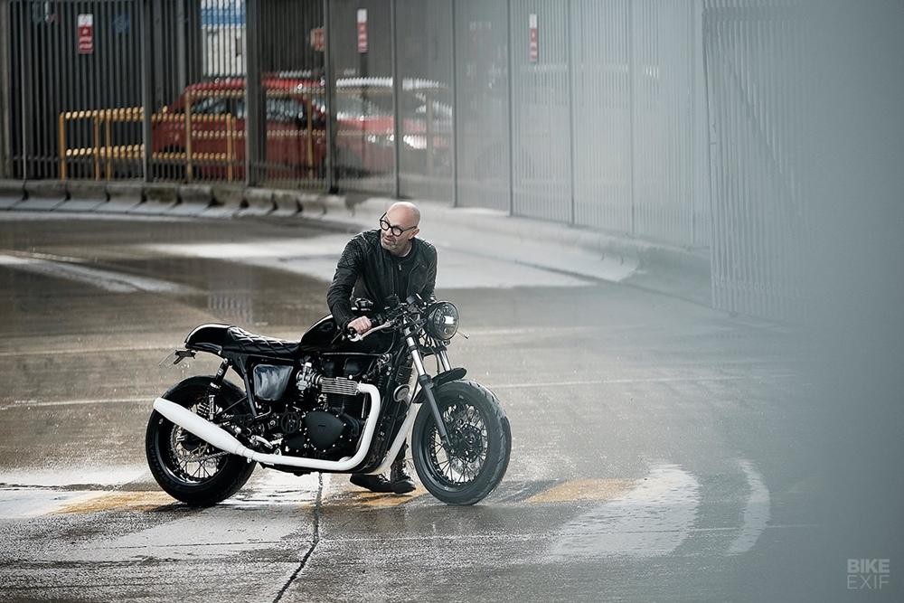 Untitled Motorcycles: кафе рейсер Triumph Thruxton