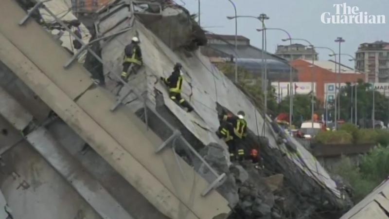 Genoa bridge collapse at least 22 killed, Italian minister says