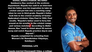 Ambati Rayudu Indian Cricketer Biography With Detail