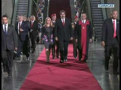 Así fue la llegada del Pdte. Nicolás Maduro al TSJ para su juramentación