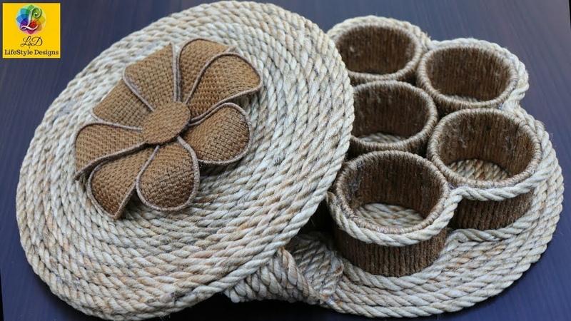 How to Make a Storage Box DIY Multipurpose Organizer form Jute Jute Rope Craft Idea