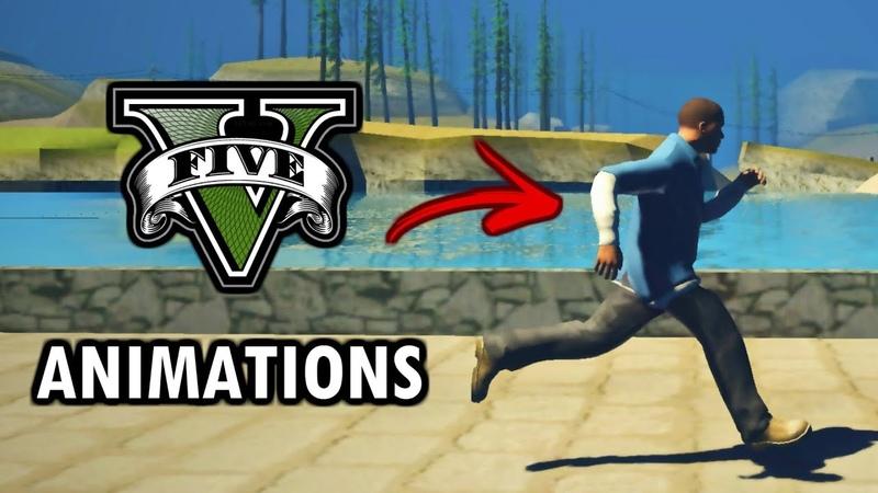 GTA San Andreas GTA V Animations Mod v2