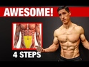 4 Steps to Awesome LOWER ABS! Works Every Time