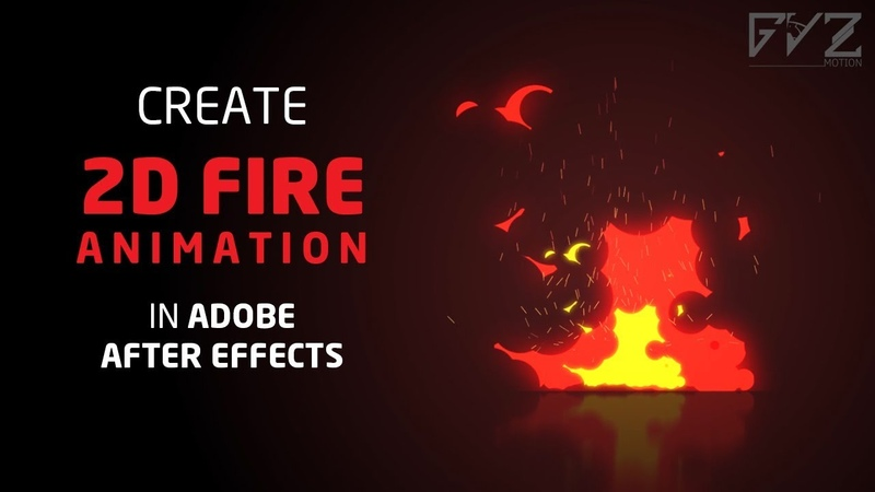 Create 2D Fire Animation in After Effects No Third party Plugin Required