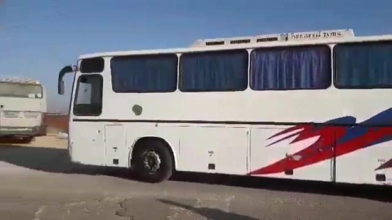В шиитские анклавы Фоуа и Кефрая что на Идлибщине прибыли автобусы для вывоза населения и солдат на территорию правительства