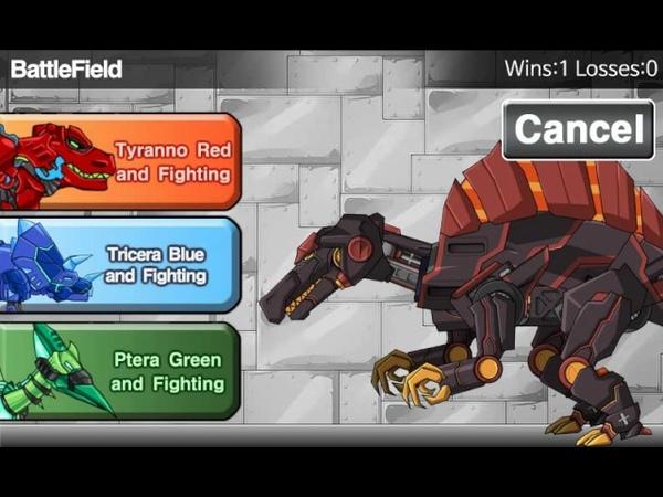Мультик игра Роботы динозавры Магма спинозавр (MagmaSpino Dino Robot)