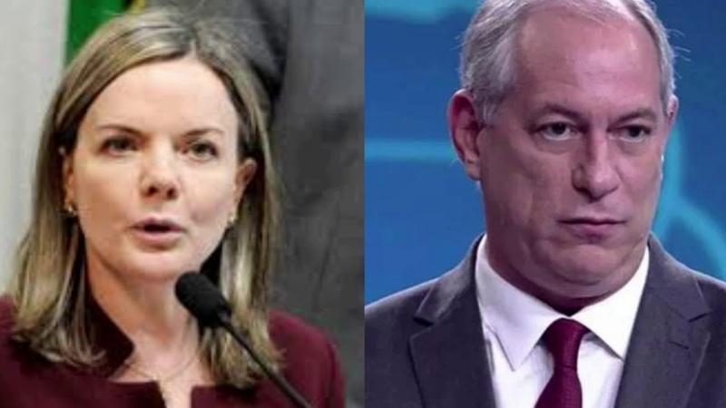 Gleisi diz a Ciro para Largar do pé do PT e de Lula e jornalista critica o ex presidenciável