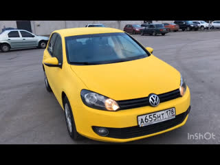 Желтый Plasti Dip Volkswagen Golf
