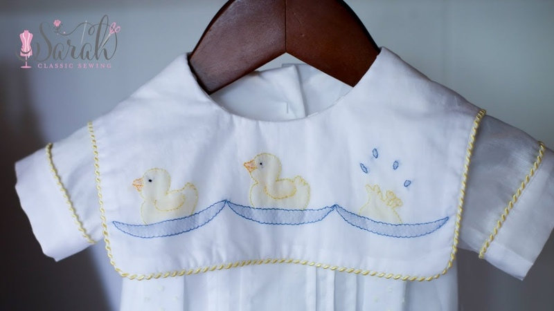 How to sew shadow work embroidered ducks | Sewing Tutorial