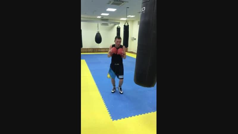 Денис Беричик тренировки и работа на грушах