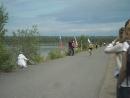 Киселевское водохранилище, старый водосброс. Велогонка и легкоатлетический пробег «Серовская миля», посвященные Дню физкультурни