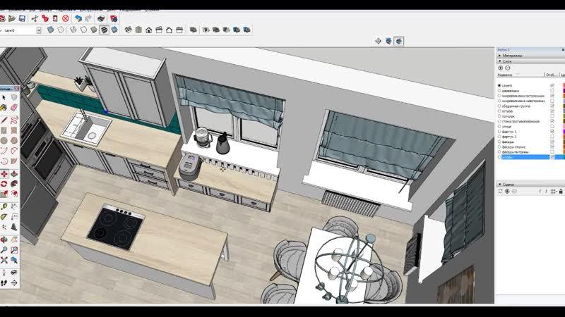 Экспресс Дизайн кухни в частный дом