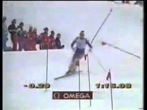 Alberto Tomba wins slalom (Garmisch 1993)