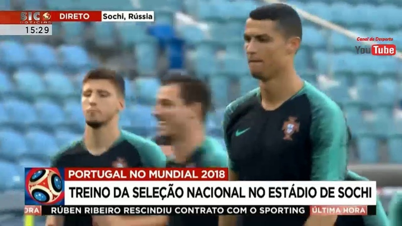 Treino da Seleção Portuguesa no Estádio de Sochi na Rússia - 14 Junho 2018