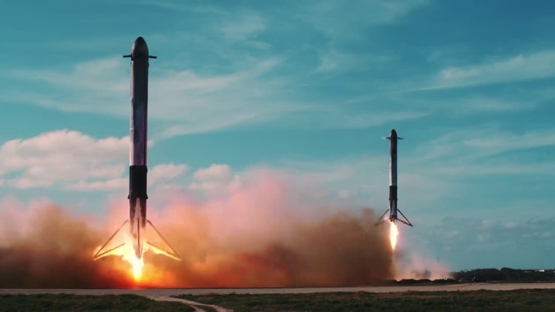 SpaceX Falcon Heavy Starman (Лера Яскевич и Петр Клюев — Space Oddity)