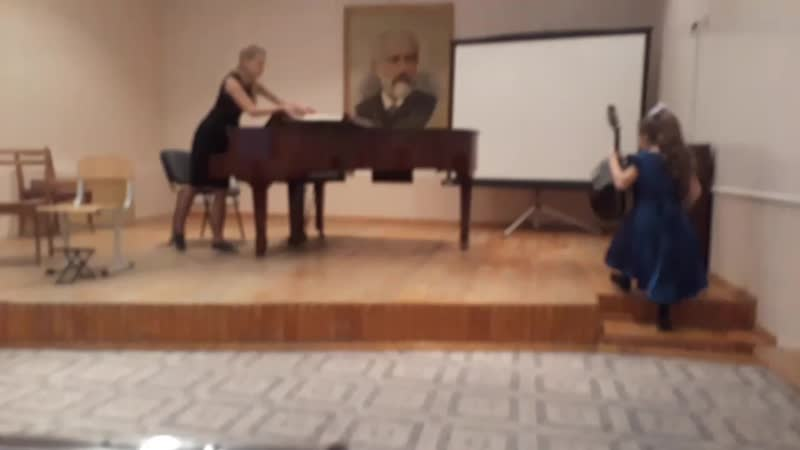 Первое выступление на мандолине