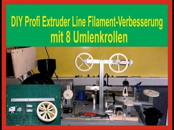 3D Printer DIY Extruder Line - Update 3/2 molecular structure improvement