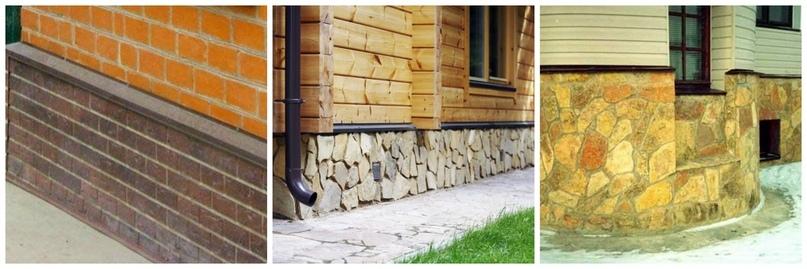 Отделка цоколя декоративным камнем. Отливы выложены брусчаткой и природным камнем. Правильный и красивый цокольный этаж.