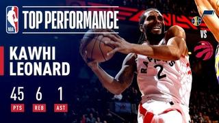Kawhi Leonard Drops CAREER-HIGH 45 Points | January 1, 2019