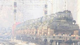 Песнями военных лет встречали начитинском вокзале легендарные танки Т-34. Новости. Первый канал