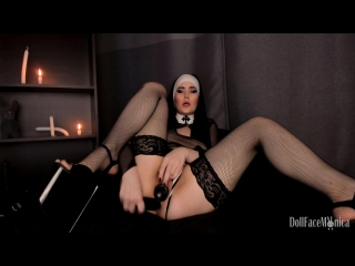 Dоllfаcеmоnicа - sinful nun dares to beg for priest cum