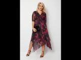 YOURS LONDON: Фиолетовое платье сеточкой с принтом 156509
