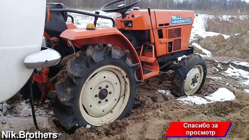 Откопали Жигули в песке ВАЗ Hinomoto C174 Поднимаем копейку с брюха