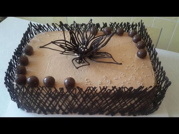 Торт Шоколадли декорларбилан Tort tayyorlash. Shokoladli tort tayyorlash