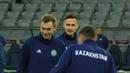 Предыгровая тренировка сборной Казахстана перед матчем с Россией