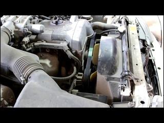 Toyota Mark II Тойота Марк 2 JZX 101 1998 года Замена приводного ремня и подшипника натяжного ролика