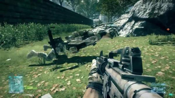 Battlefield 3 - Отсылка к Worms или баг?