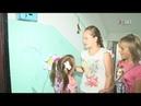 Детям разрешили рисовать на стенах В Косяково украсили подъезд ко Дню деревни