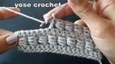 كروشية غرزة الخرز سهلة لعمل شنط/ سكارفات... و15