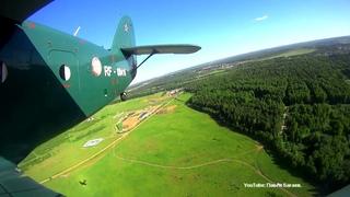 Взлёт и набор высоты 800 м. Вид с крыла Ан-2 (RF-00416) Порошино, Киров.