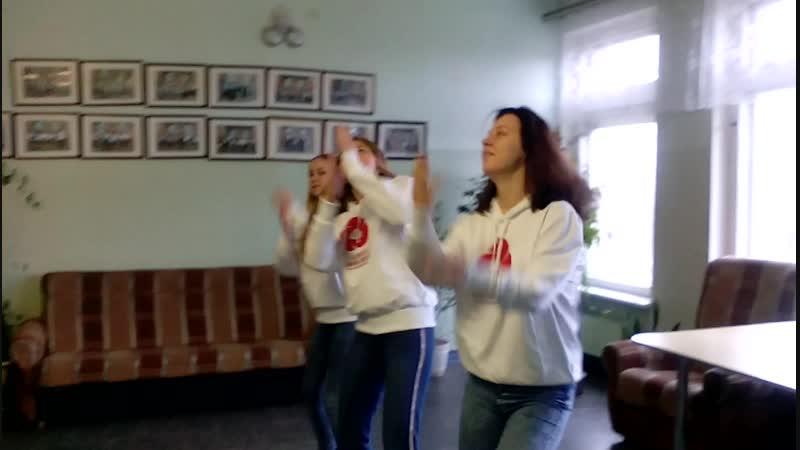 Флешмоб с участниками лагеря Волонтеры Заозерье
