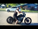Murdered out shadow bobber drive away