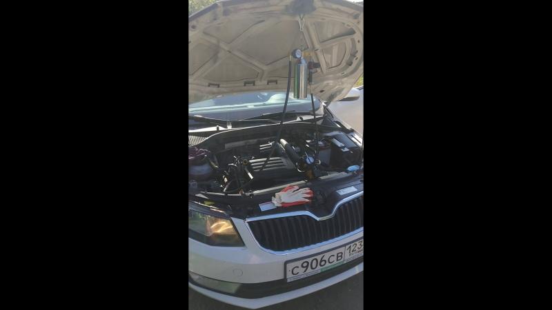 Промывка форсунок (инжектора) Skoda Octavia a7 1.2 TSI