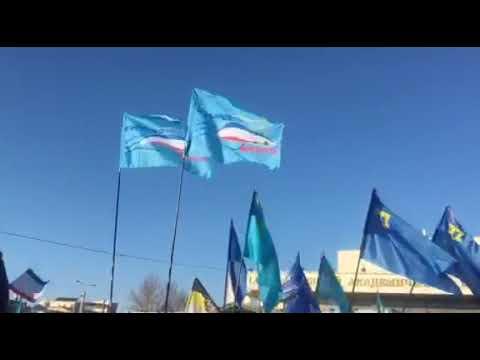 «КЪЫРЫМ БИРЛИГИ» в праздничном шествии в честь пятилетия воссоединения Крыма с Россией