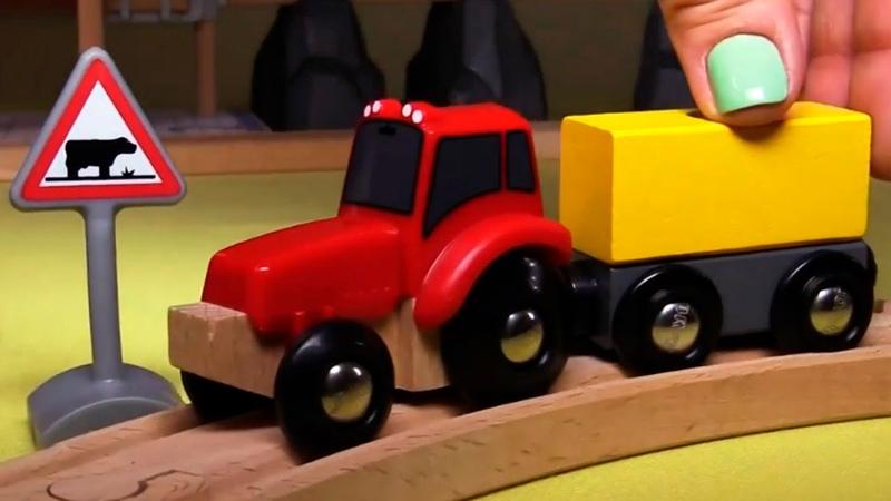 Развивающее видео про паровозики в городе Брио