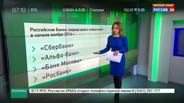 Новости на Россия 24 • Российские банки готовятся к мощным кибератакам