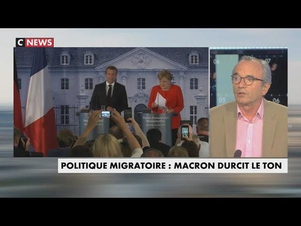 Immigration : Ivan Rioufol compare Macron et Merkel à des pompiers pyromanes (CNEWS, 22/06/18, 19h)