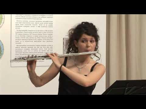 Johann Sebastian Bach, Sonata in G minor for Flute and Harpsichord BVW 1020, flute Marija Spasic