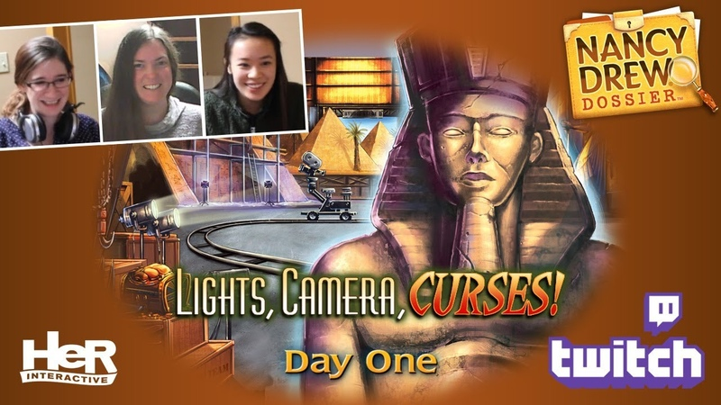 Nancy Drew Dossier: Lights! Camera! Curses! [Day One: Twitch]   HeR Interactive