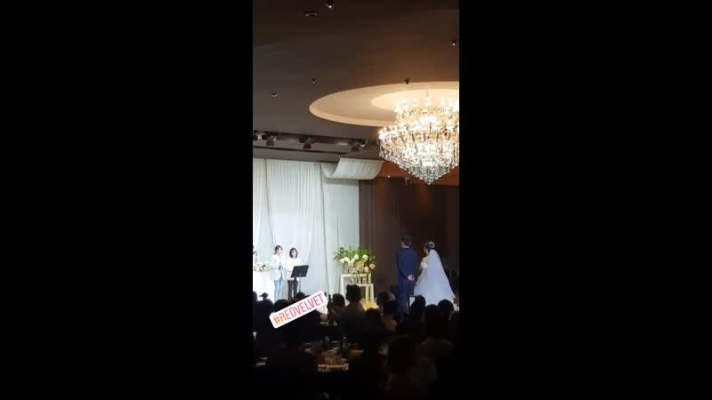 190504 Seulgi Wendy (Red Velvet) @ SM manager's wedding